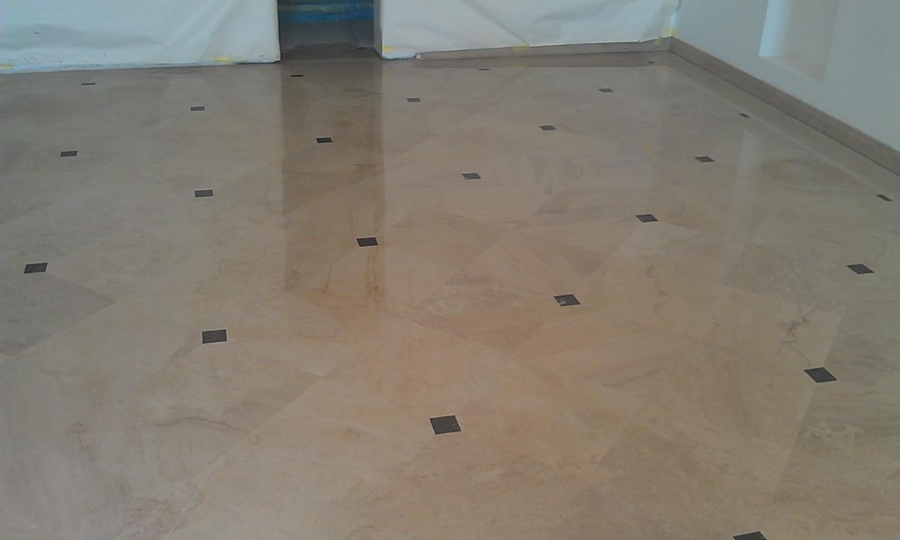 Crema Marfil Marble Floor 2